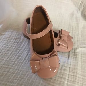 Other - Soft Pink Patent Flats, Bow Detail, Velcro, Size 9